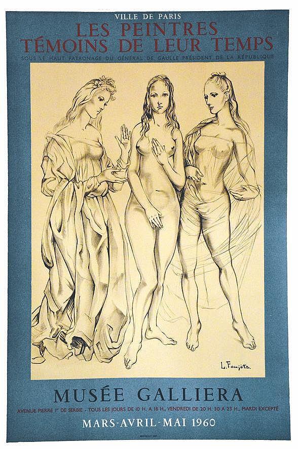 FOUJITA TSUGOUHARU  LEONARD  Les Peintres Témoins de leur Temps     1960