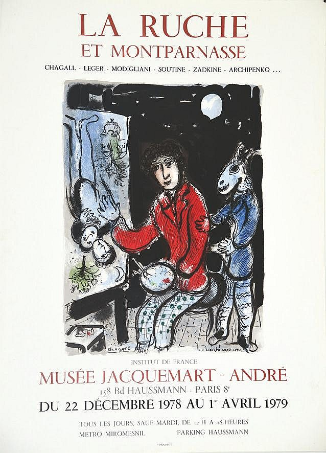 CHAGALL MARC  Marc Chagall - La Ruche et Montparnasse - Musée Jacquemart-André 1978-1979     1978