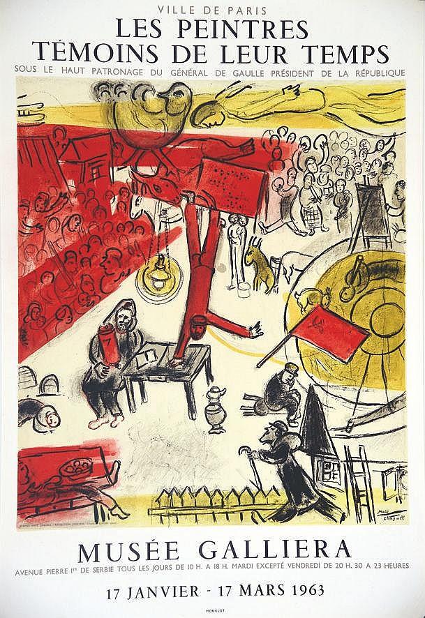 CHAGALL MARC  Marc Chagall - La Révolution - Les Peintres Témoins de leur Temps - Musée Galliera 1963     1963