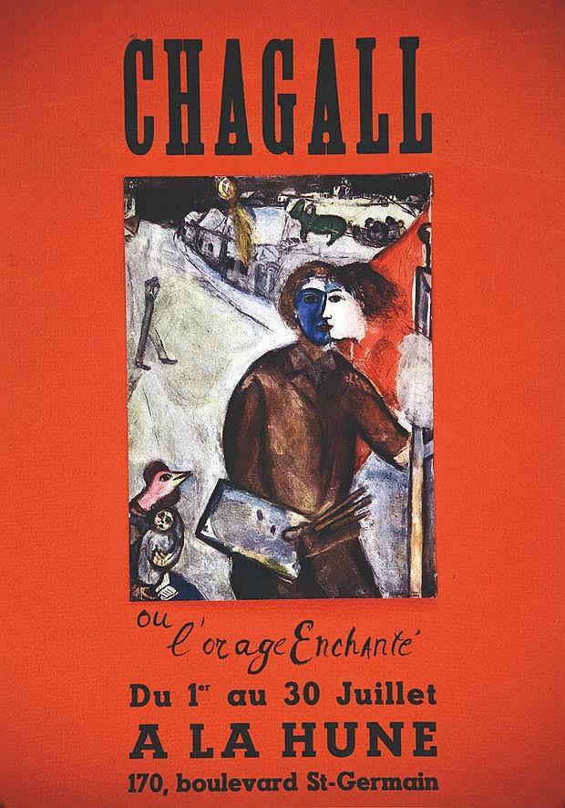 CHAGALL MARC  Chagall ou L'Orage Enchanté A la Hune - Imprimé en 2 partie / printed in 2 sheets     vers 1960