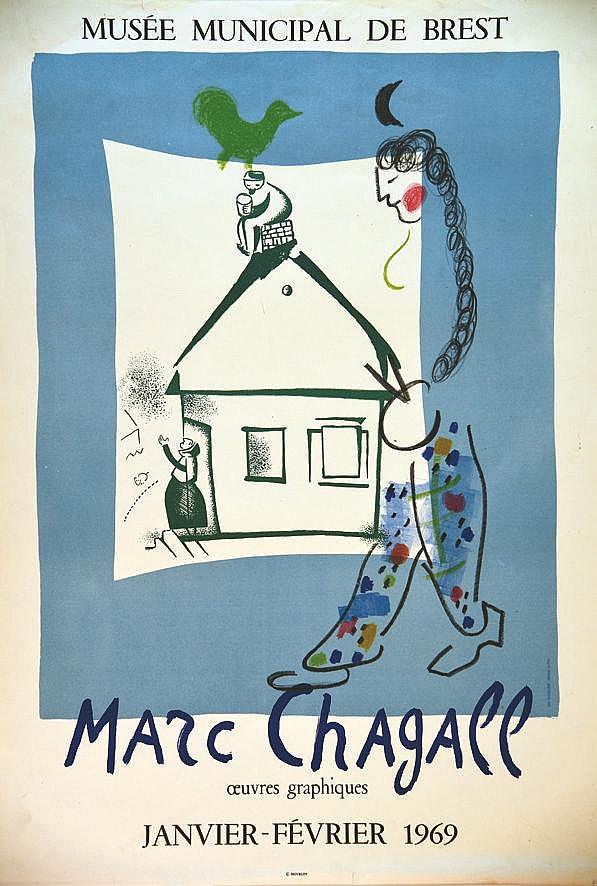 CHAGALL MARC Musée Municipal de Brest 1969