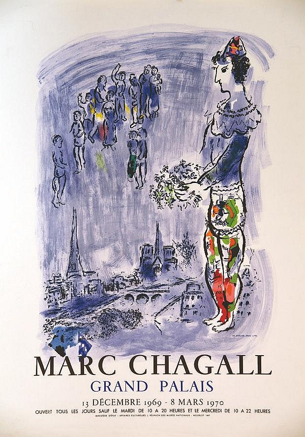 CHAGALL MARC  Marc Chagall Grand Palais - 13 Decembre 1969 - 8 Mars 1970     1969