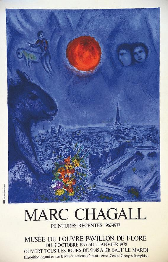 CHAGALL MARC  Marc Chagall Musée du Louvre     1978