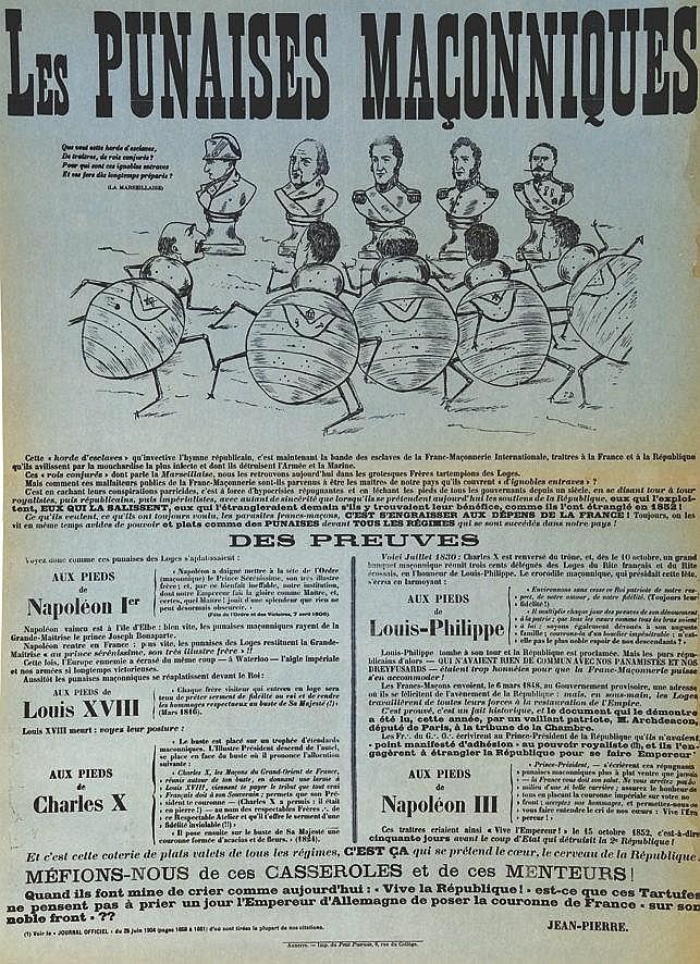 MILLO R.E.  Les Punaises Maçonniques - Des Preuves     1904
