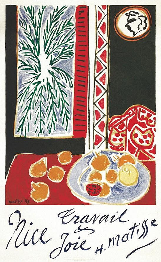 MATISSE HENRI Nice Travail et joie - Affiche Encadrée / Poster Framed 1947