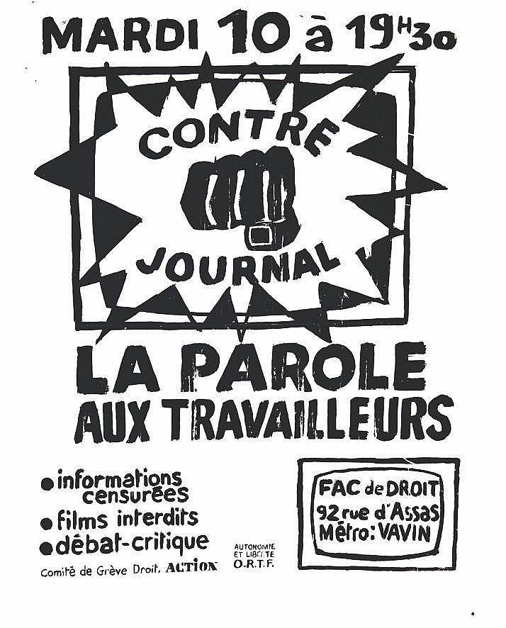 La Parole aux Travailleurs - Contre Journal     1968