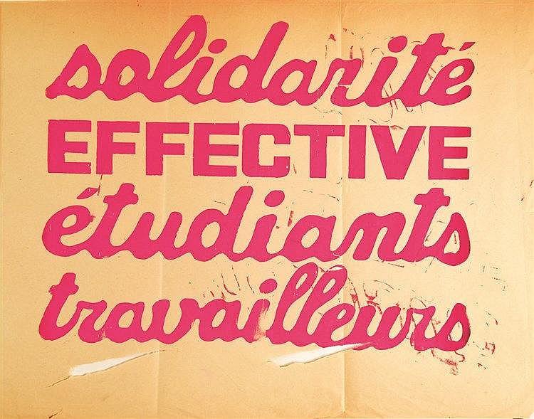 Solidarité effective Etudiants Travailleurs     1968