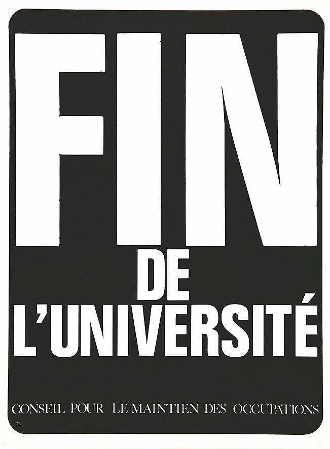 Fin de L'Université - Conseil pour le maintien des occupations     1968  Nanterre (Hauts de Seine)