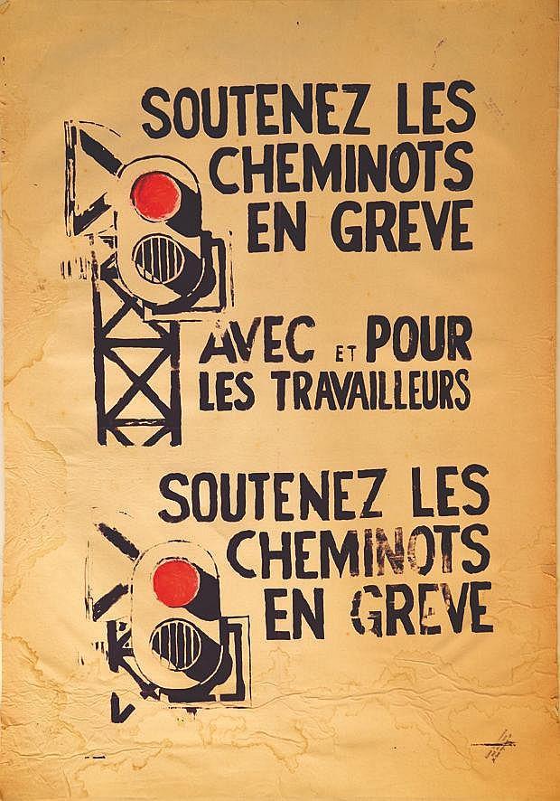 Soutenez les Cheminots en Grève     1968