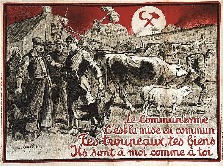 GALLAND ANDRE  Le Communisme c'est la mise en commun …     vers 1930