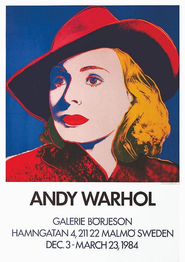 WARHOL ANDY  Ingrid Bergman - Galerie Borjensom Warhol     1984