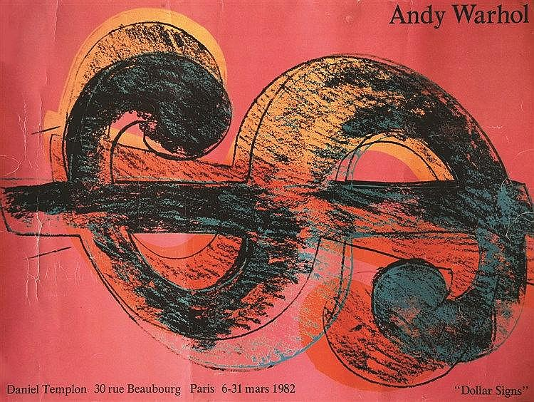WARHOL ANDY Andy Warhol - Dollar Signs - Daniel Templon 1982 1982