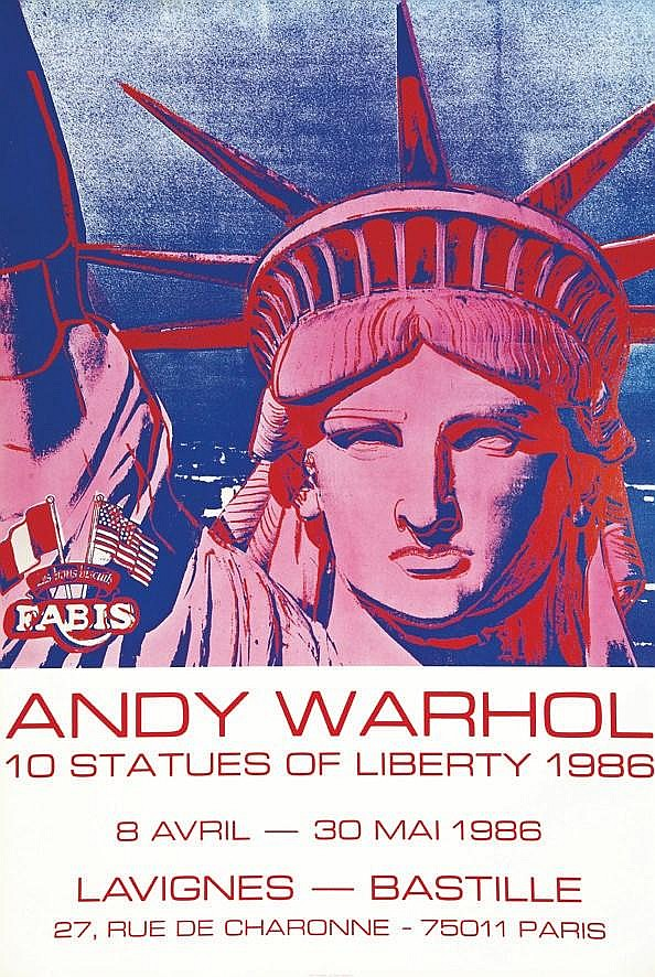 WARHOL ANDY  Warhol Andy - 10 Statues of Liberty.     1986