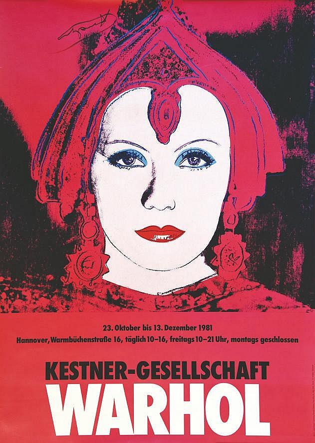 WARHOL ANDY  A. Warhol Kestner-Gesellschaft. Signée Andy au feutre Andy Warhol ?     1981