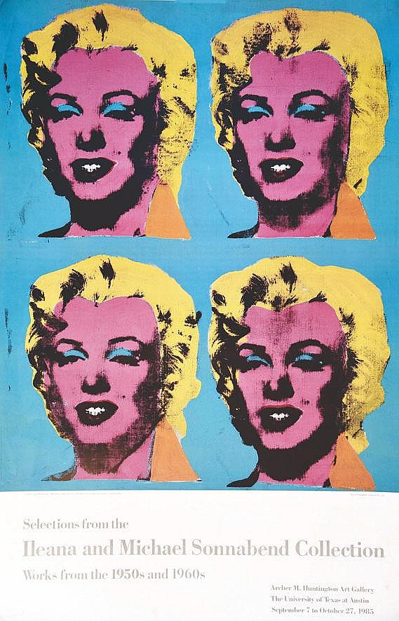WARHOL ANDY  Ileana & Michael Sonnabend Collection University Texas Austin     1985