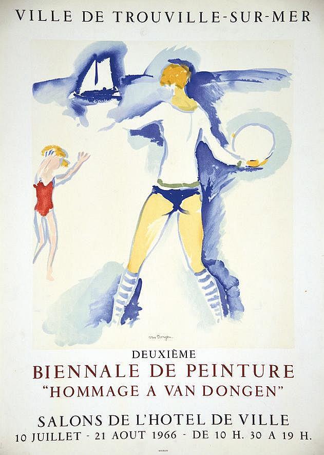 VAN DONGEN KEES  Biennale de Peinture Trouville sur Mer     1966