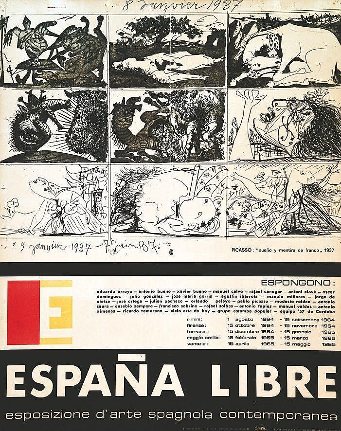 PICASSO PABLO Espana Libre 1964