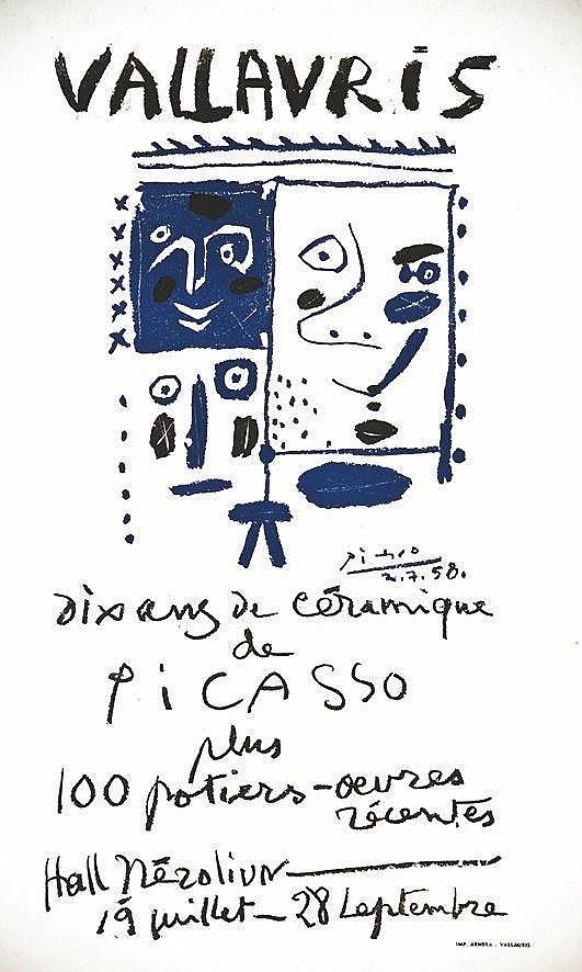 PICASSO PABLO Dix Ans de Céramique de Picasso vers 1950