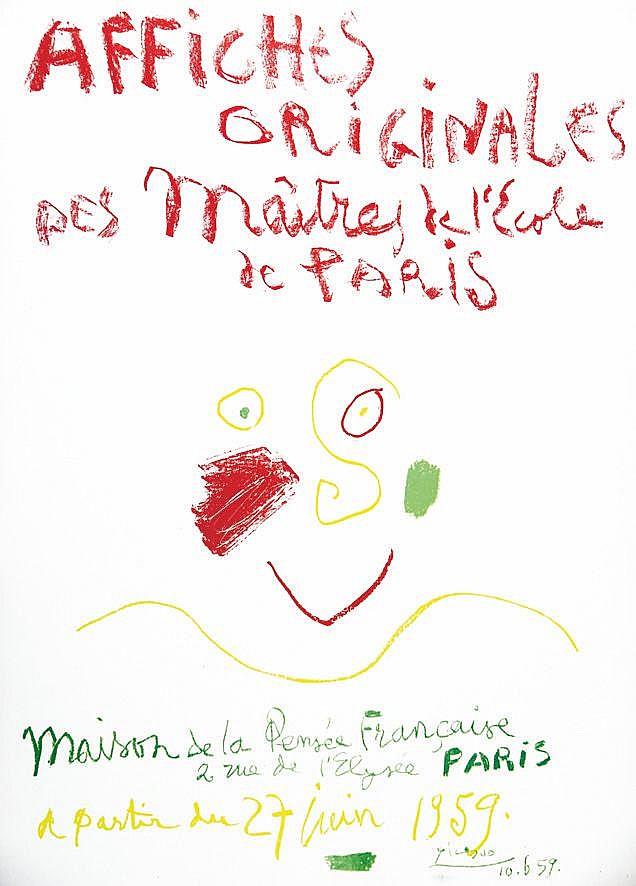 PICASSO PABLO  Affiches Originales maison de la Pensée Française     1959