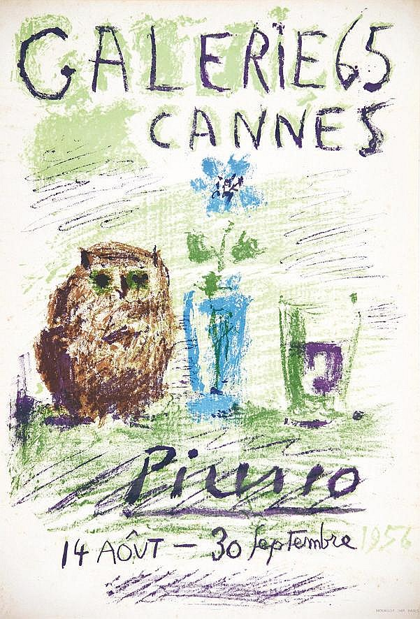PICASSO PABLO  Galerie 65 Cannes     1956