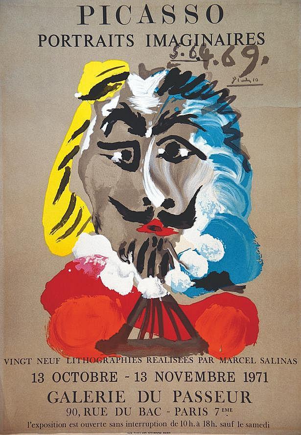 PICASSO PABLO  Portrait Imaginaire Galerie du Passeur     1971