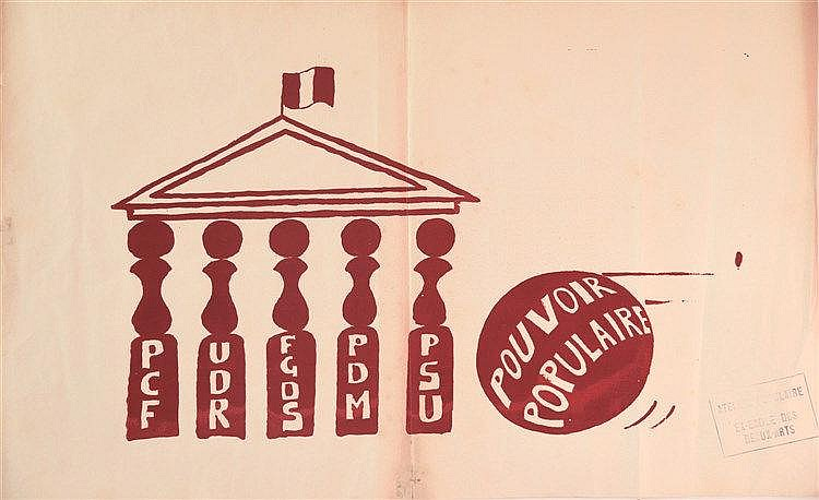 Pouvoir Populaire (Partis Politiques à l'assemblé / Political parties at the french assemble ) 1968