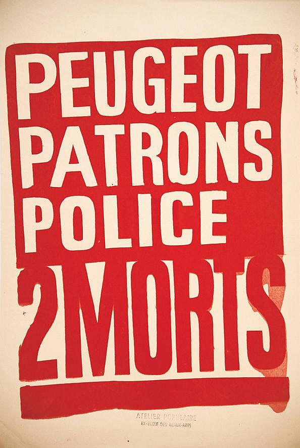Peugeot Patrons Police 2 Morts     1968