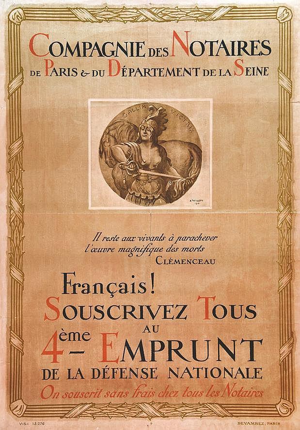 WILLETTE ADOLPHE  Compagnie Des Notaires - Paris Departement De La Seine     vers 1917