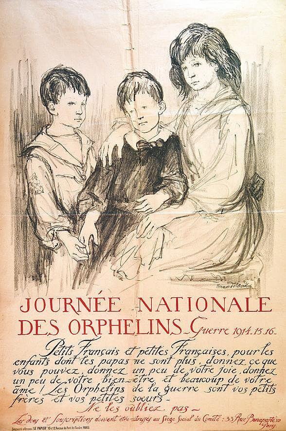 NAUDIN BERNARD  Journée Nationale des Orphelins de Guerre 14 15 16     1916