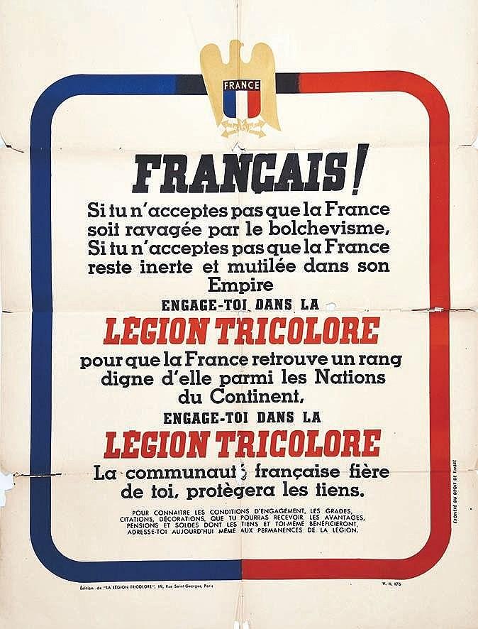 Français! Légion Tricolore     1941