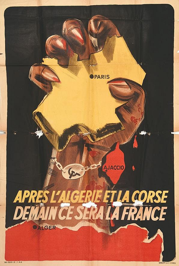 Après l'Algérie et la Corse     1943