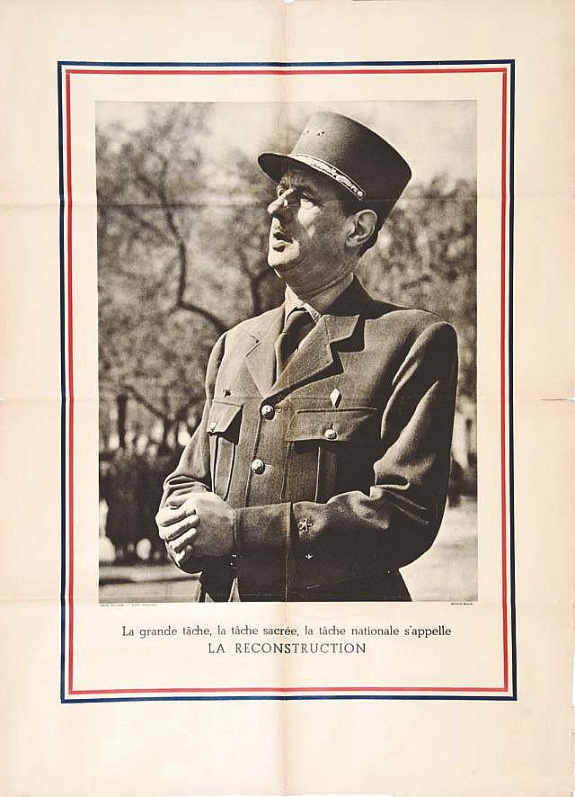 De Gaulle - La Reconstruction vers 1945