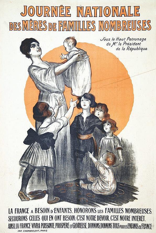 MENERET CH. ATELIER  Journée Nationale des Mères de Famille Nombreuses     1917