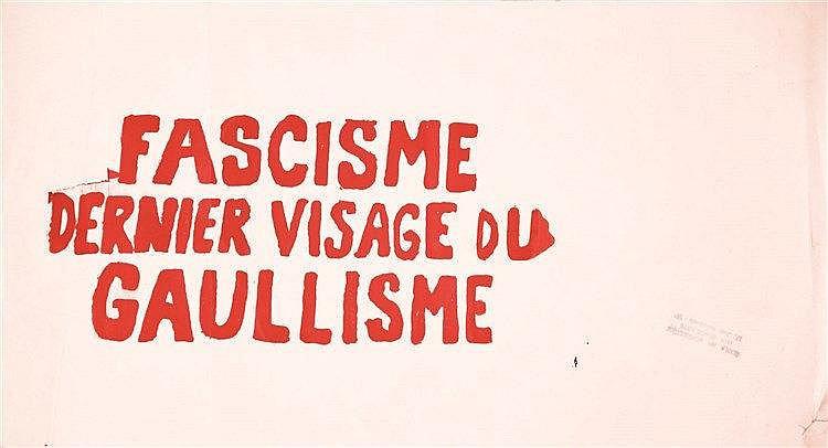 Fascisme dernier visage du Gaullisme 1968