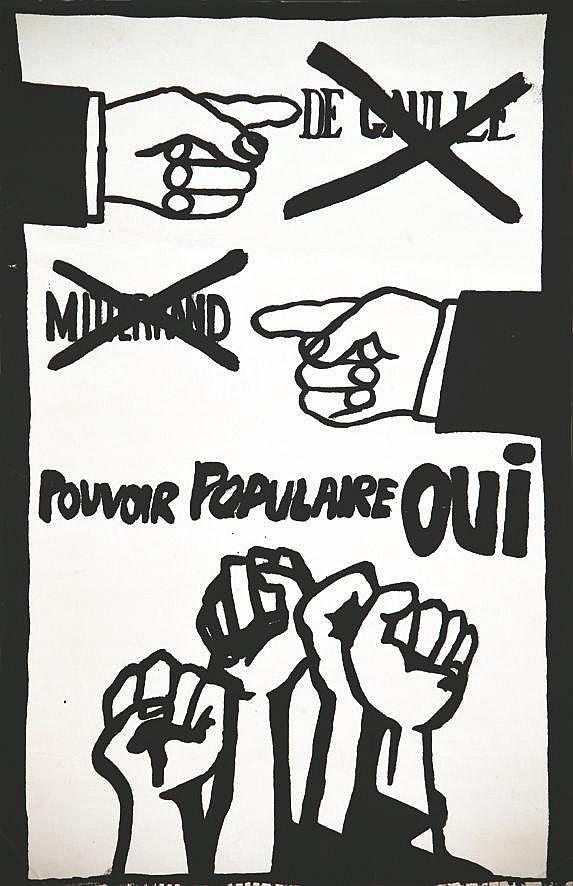De Gaulle Mitterrand (non) Pouvoir populaire Oui 1968