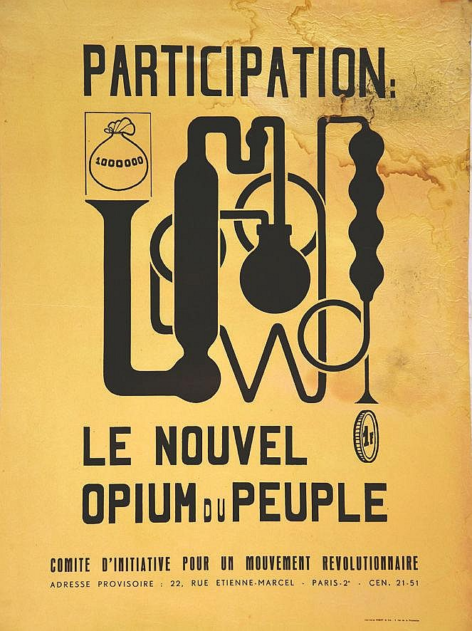 Participation Le Nouvel Opium du Peuple 1968