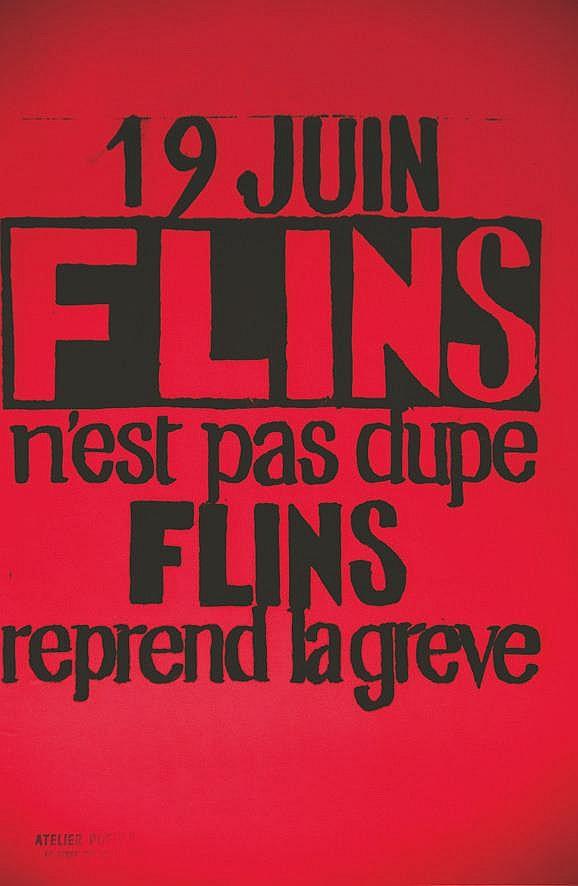 Flins n'est pas dupe Flins reprend la grève     1968
