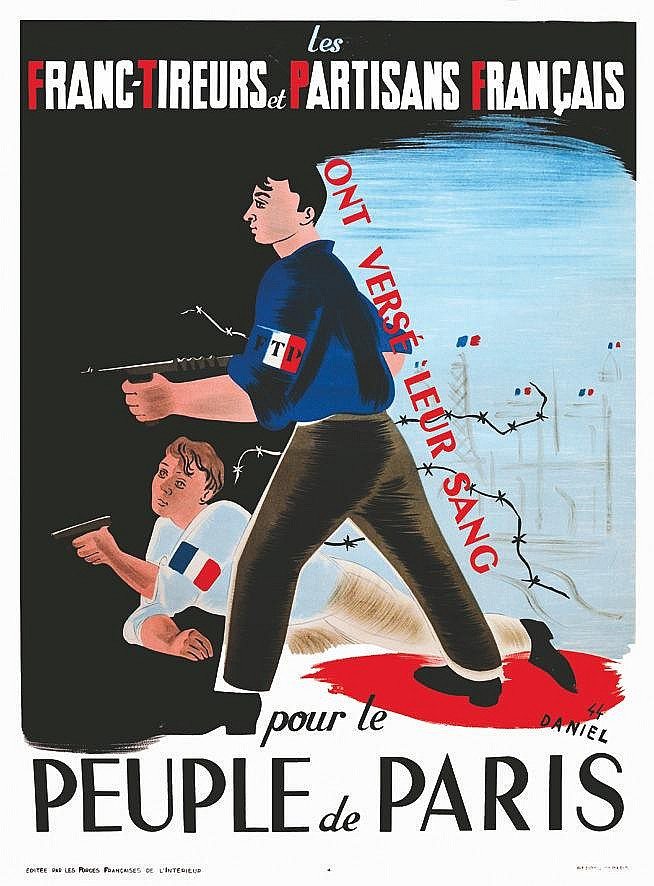 DANIEL  FTP - Francs Tireurs et Partisants Français     1944