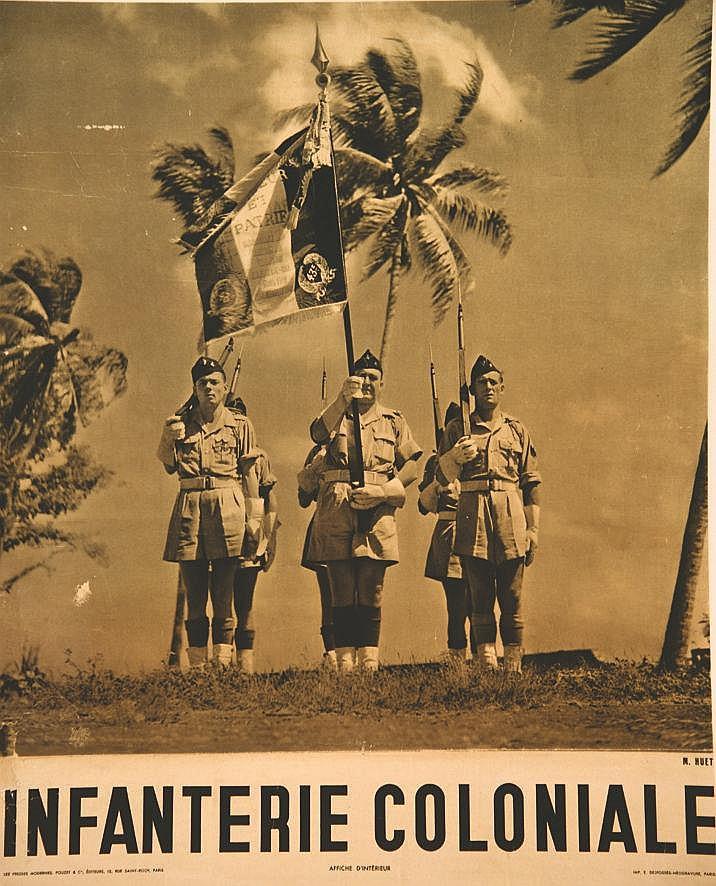 HUET M. Infanterie Coloniale vers 1950