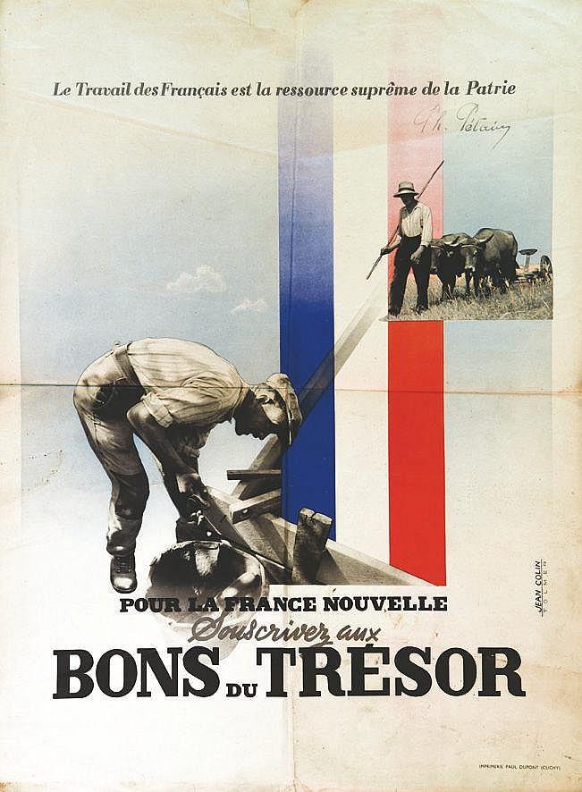 COLIN JEAN  Bons du Trésor     vers 1941