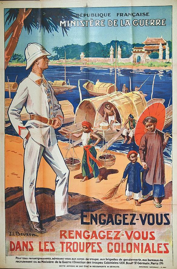 BEUZON  J. L.  Engagez vous dans les Troupes Coloniales     1931