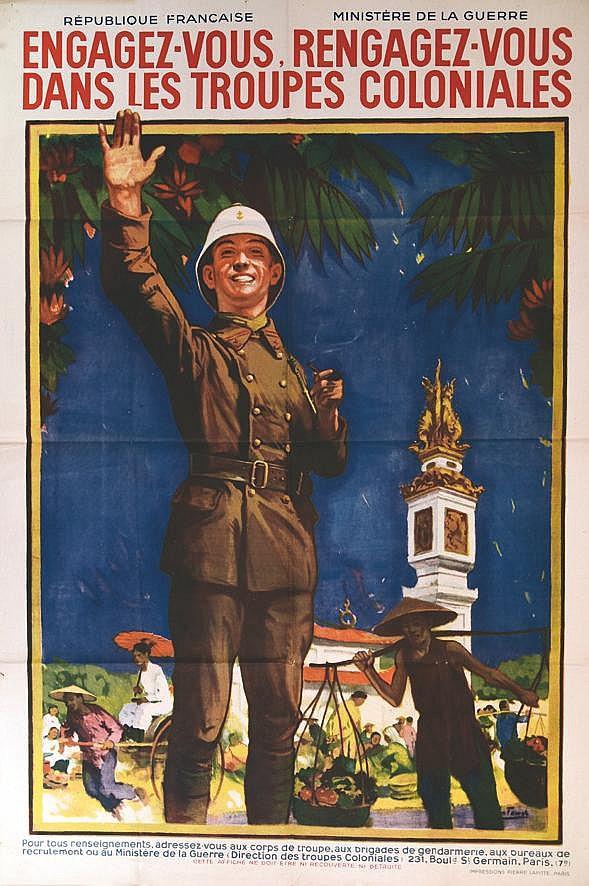 FAURET  Engagez vous dans les Troupes Coloniales     vers 1930