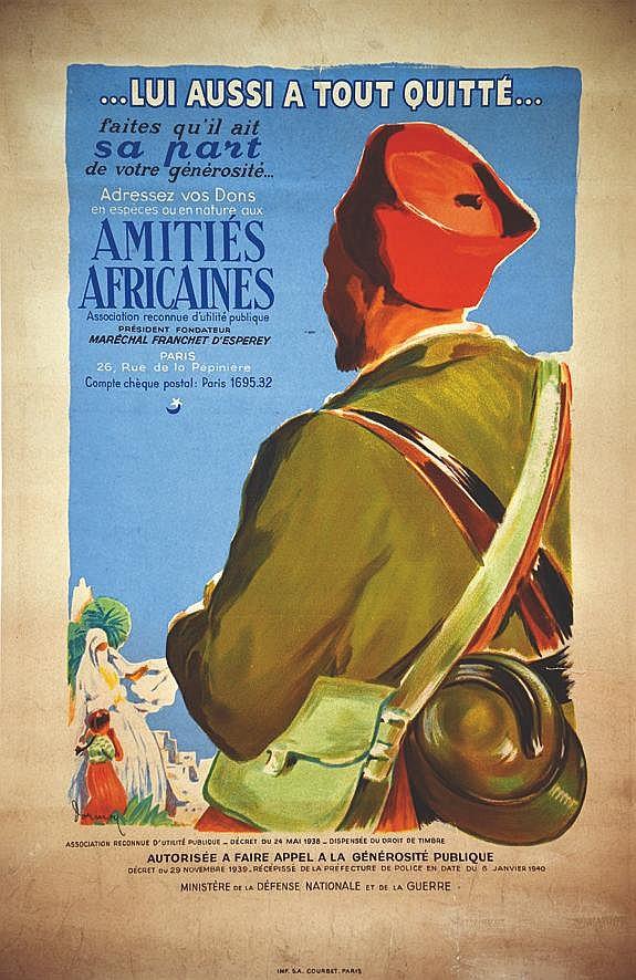 DORMOY  Amitiés Africaines - Lui Aussi a Tout Quitté     1940