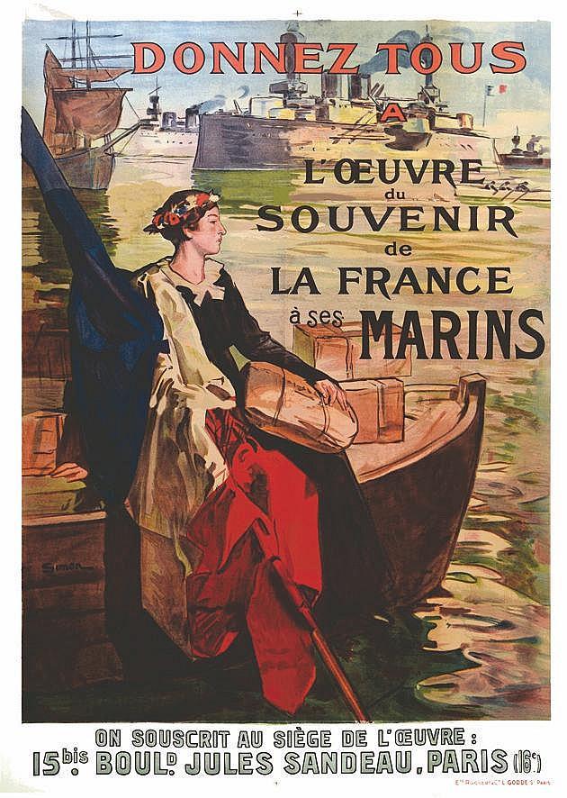 SIMON Donnez Tous à l'Oevre du Souvenir de La France à ses Marins