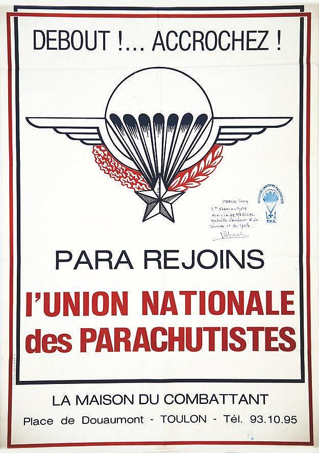 Union Nationale des Parachustistes - La Maison du Combattant     vers 1970  Toulon (Var)