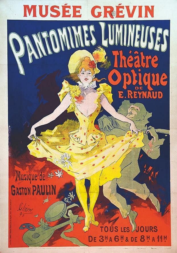 CHERET JULES Pantomines Lumineuses Théatre Optique de E. Reynaud 1892