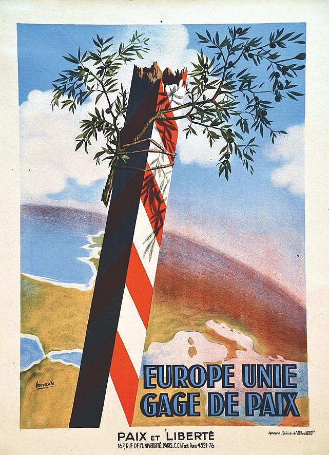 BOCCASILE  Europe unie, gage de paix     vers 1950