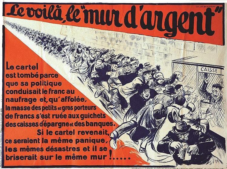 DE BOUSSAY  CH.  Le Voilà le Mur d'Argent     vers 1925