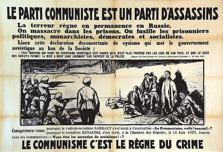 ALO  Le Communisme c'est le règne du crime     vers 1930