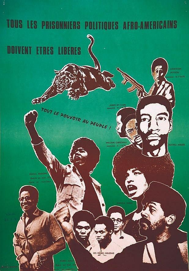 ABUTTU Black Panthers : Tous les Prisoniers Politiques américains doivent être libre) 1971